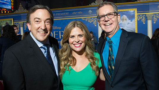 Peter Del Vecho, Jennifer Lee, and Chris Buck, the producer and directors of Frozen Fever