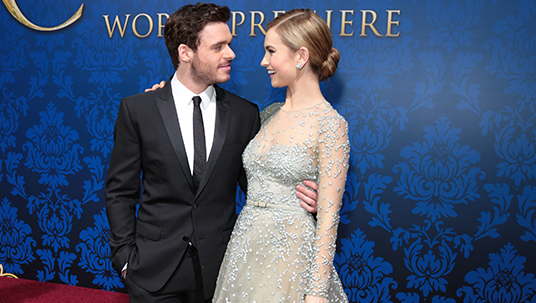 Richard Madden (The Prince) and Lily James (Cinderella)