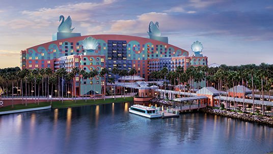 photo of Walt Disney World Swan Hotel on waterfront