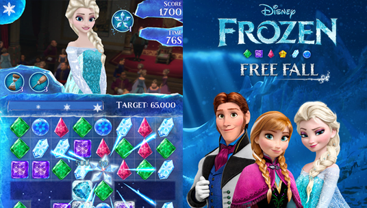 screen art for Frozen Free Fall videogame