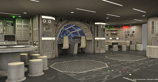 photo of Star Wars: Millenium Falcon play area on Disney Dream cruise liner