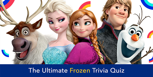 poster of animated characters from the movie Frozen