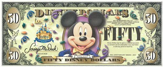Celebrating Disney Dollars Currency With Character D23
