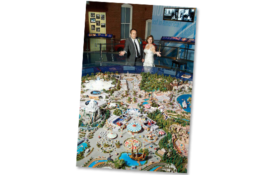 Disney Fan Wedding Model of Disneyland