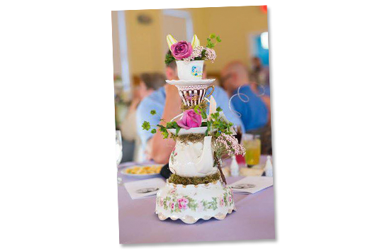 Disney Fan Wedding Centerpiece