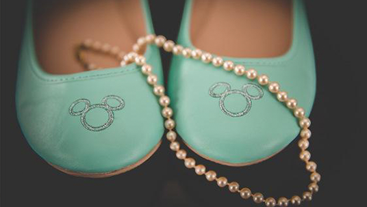 Disney Fan Wedding Shoes