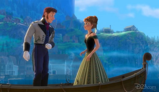 Kristoff and Anna in Frozen