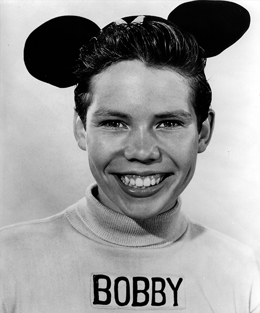 photo of Bobby Burgess as an original Mouseketeer in Mickey Mouse cap
