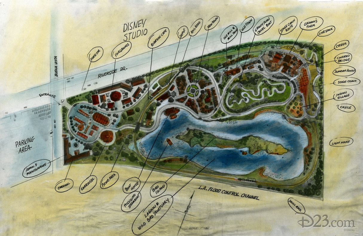 Concept art for Proposed Disneyland Park in Burbank