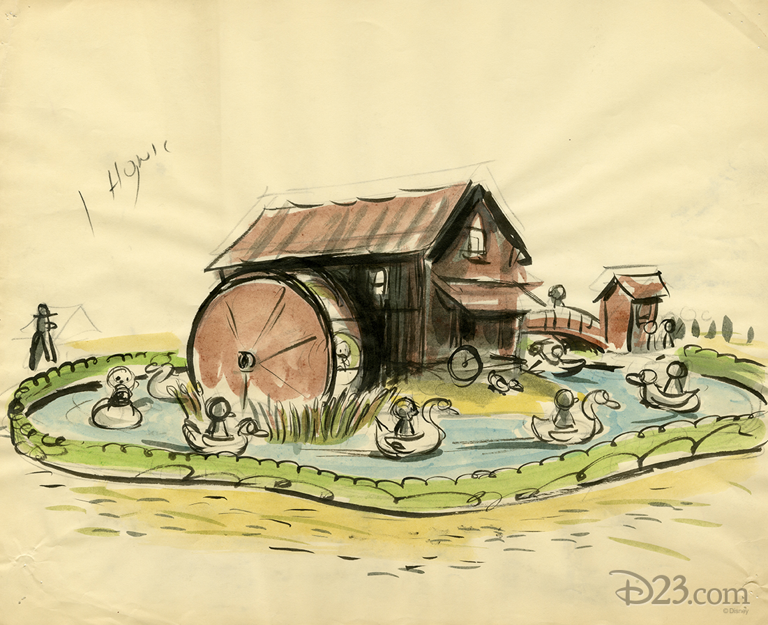 Concept art for ride based on The Old Mill in Disneyland Burbank