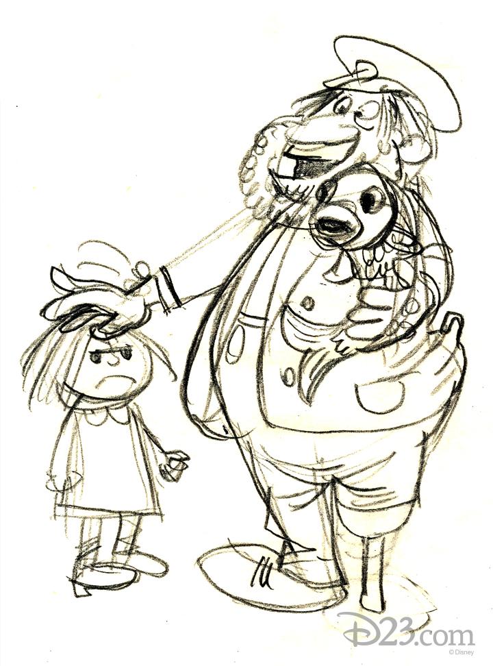 Captain Saltyhinder and his mackerel sidekick