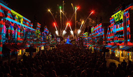 Disney pyrotechnics dazzle crowds