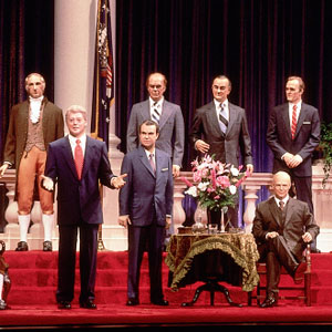 President Clinton was added to The Hall of Presidents' star (and stripe)-studded lineup in 1993.