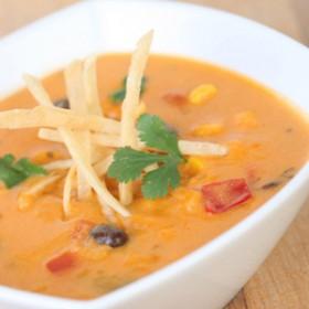 Cheesy Enchilada Soup