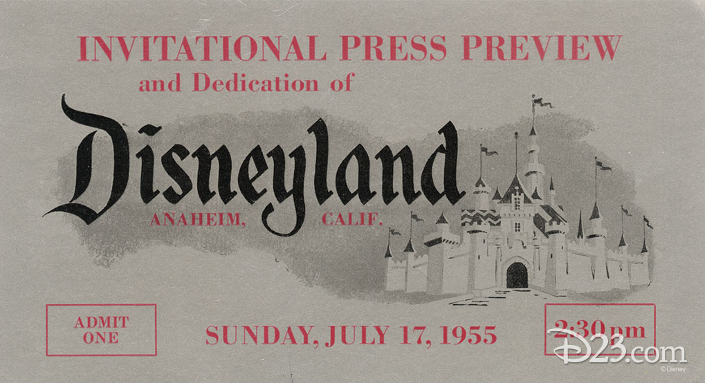 Original image of a Disneyland Press Preview Pass
