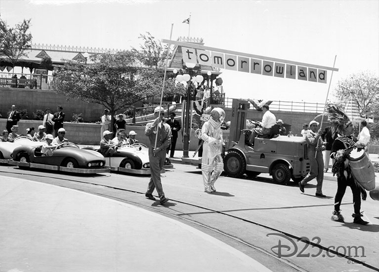 Parade in Disneyland's Tomorrowland