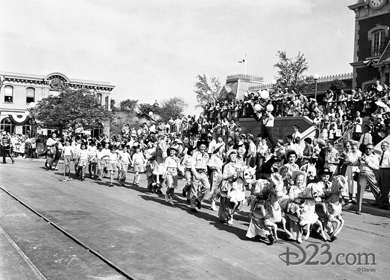 Mouseketeers in the Disneyland Opening Day parade