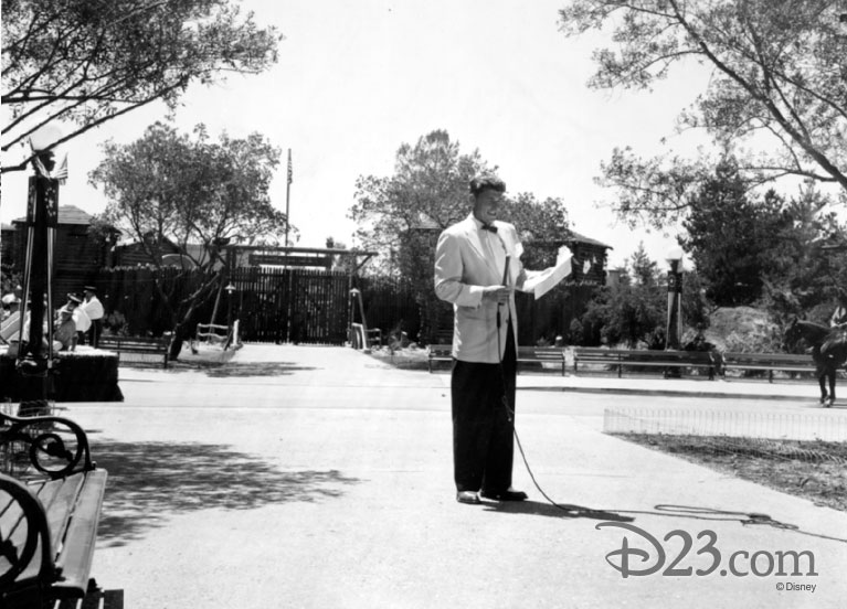 Ronald Regan co-hosting the television viewing of Disneyland Opening Day parade