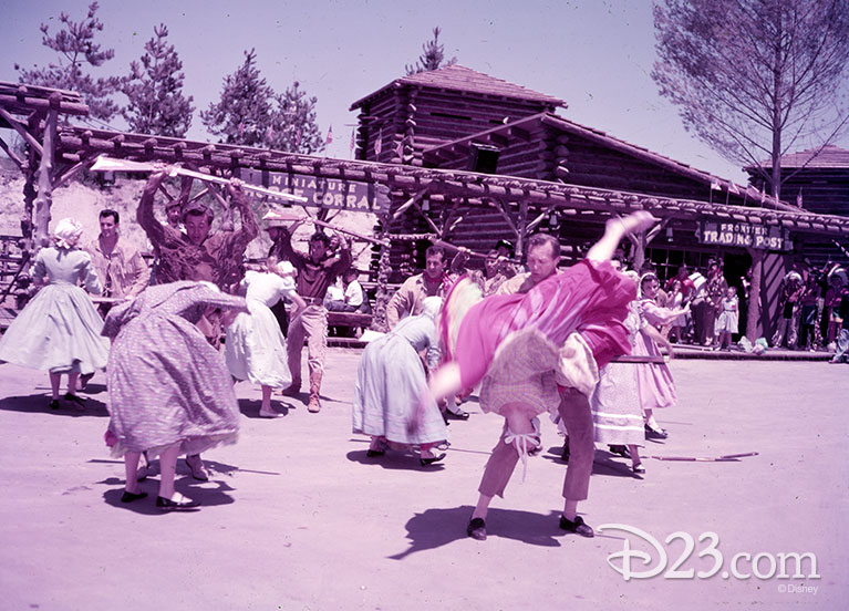 "Frontierland dancers performing a number to ""Old Betsy"""