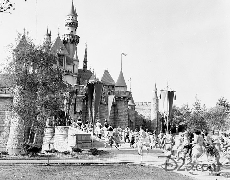 Children in Disneyland's Fantasyland