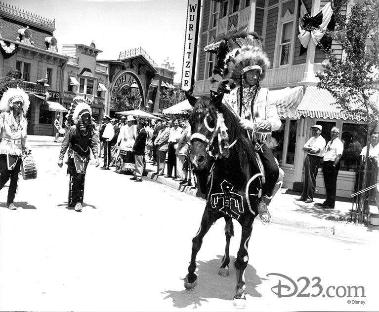 Native American performers in DIsneyland's Indian Village