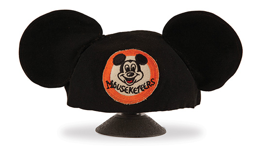 "Mouse ears worn by Jimmie Dodd on the ""Mickey Mouse Club"""