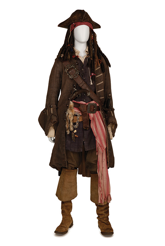 Jack Sparrow costume worn by Johnny Depp in the Pirates of the Caribbean films