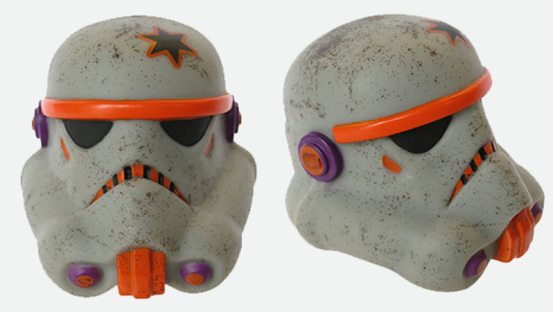 Star Wars vinyl collectible helmets inspired by the Legion Helmet Project