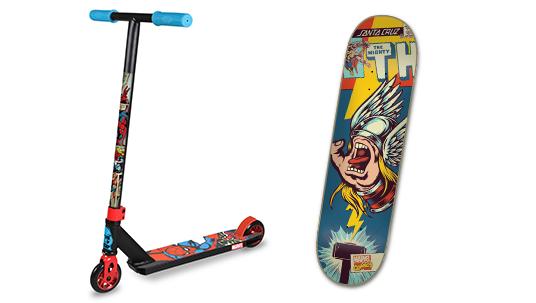 Marvel Super Heroes Skateboard and Skooter