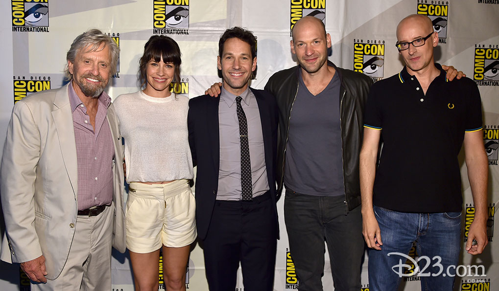 Michael Douglas, Evangeline Lilly , Paul Rudd, Corey Stoll, Peyton Reed at Comic Con