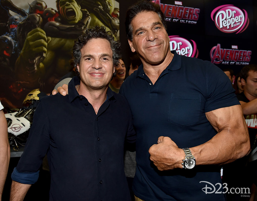 Mark Ruffalo and Lou Ferrigno at Comic Con