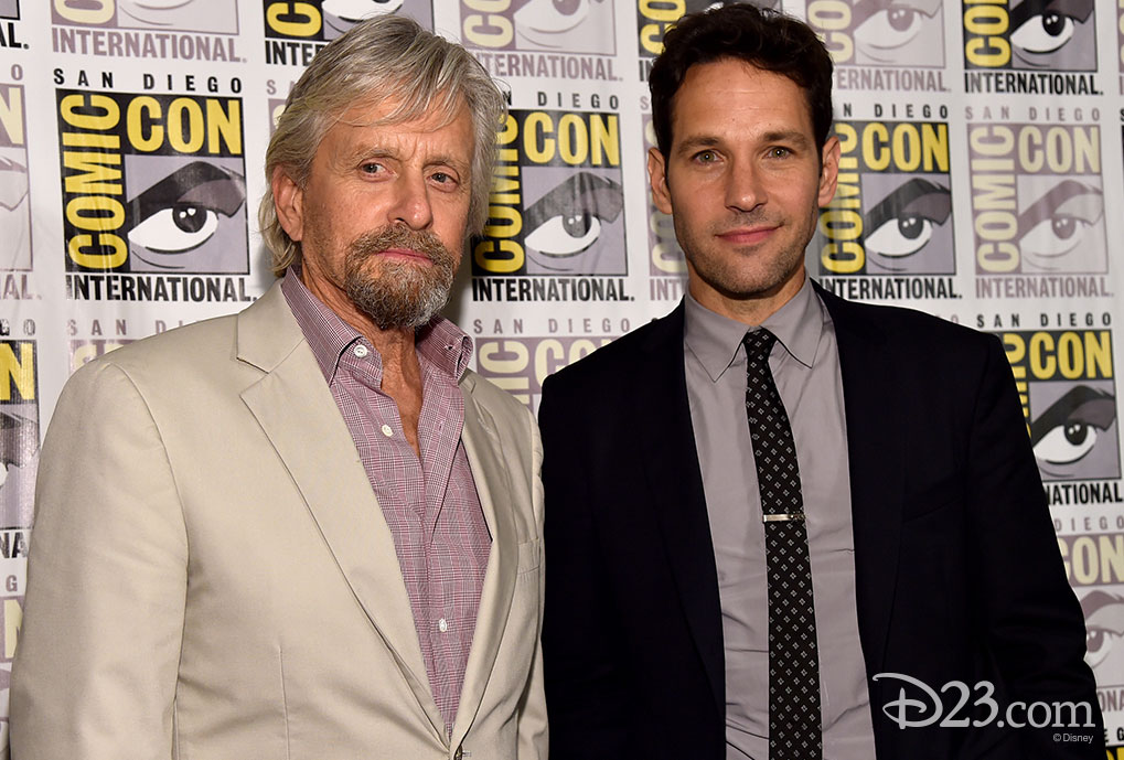 Michael Douglas and Paul Rudd at Comic Con