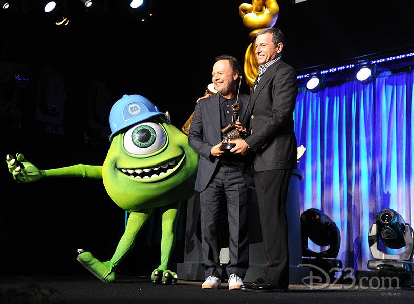 Billy Crystal and Mike Wazowski receiving a Disney Legend award