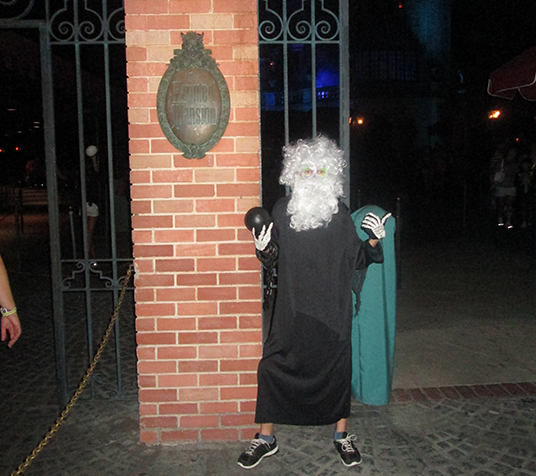 Geek of the Week Matthew Heid geekiest Disney moment was when he dressed up as Gus, the hitchhiking ghost at Mickey's Not-So-Scary Halloween Party, in 2012