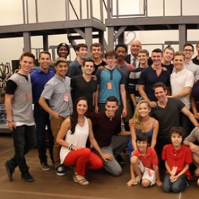 Cast of Disney's Newsies Broadway Production