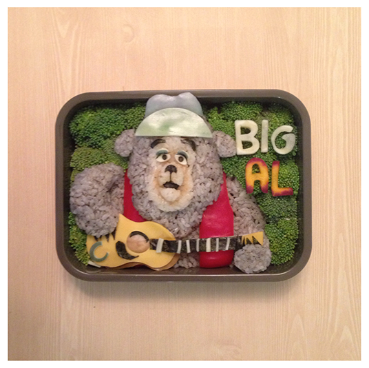 Country Bears inspired bento box