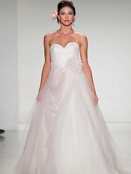 photo of model wearing Alfred Angelo designed Aurora wedding dress
