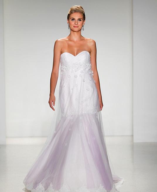photo of model wearing Alfred Angelo designed Rapunzel wedding dress