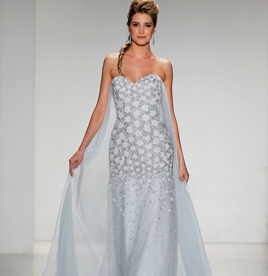 photo of model wearing Alfred Angelo designed Snow Queen wedding dress