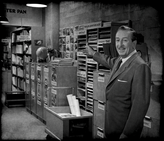 Walt Disney in the WED Studios Morgue