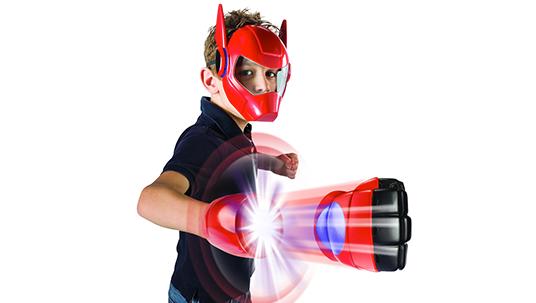 photo of young boy modeling Big Hero 6 apparel