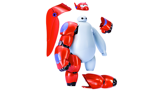 Big Hero 6 toy showing detachable parts such as armor sections