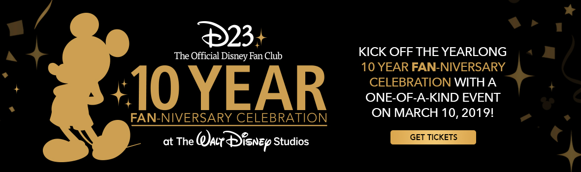 D23 10th anniversary event banner