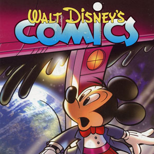 """70 years on, the latest issue of Walt Disney's Comics, #711, features a cover illustrating """"Mickey Mouse and the Orbiting Nightmare"""" drawn by European Mickey master Casty."""
