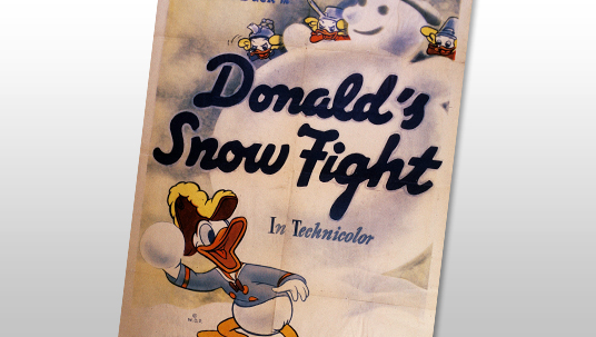 Huey, Dewey, and Louie build their own snowman, much to the torment of their uncle Donald.