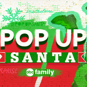ABC Family's Pop Up Santa
