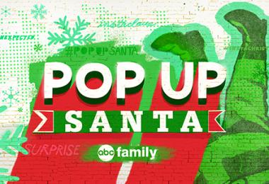 ABC Family's Pop Up Santa