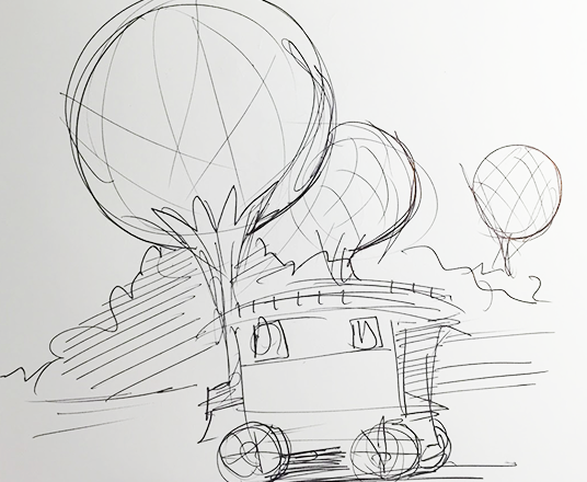 D23 Member Patrick Johnson Destination D: Attraction Rewind sketch