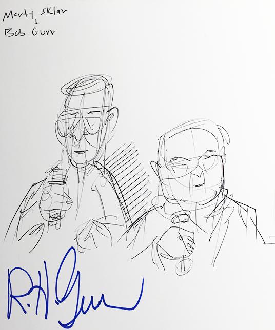 Sketch of Bob Gurr and Marty Sklar