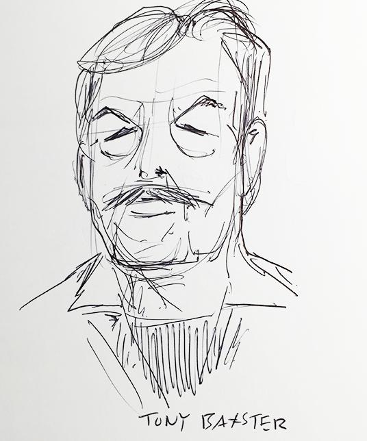 Sketch of Tony Baxter